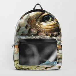 Watercolor Lizard, Green Iguana 01, St John, USVI, His Majesty Backpack