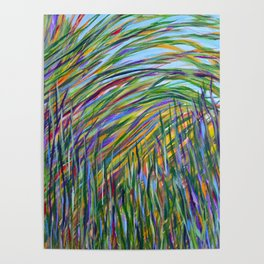 Tropical Green Abstract, Seagrass Color Study, Contemporary Colorful Home Decor Poster