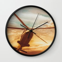 Evening Flight Wall Clock