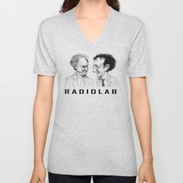 RadioLab with Robert and Jad Unisex V-Neck