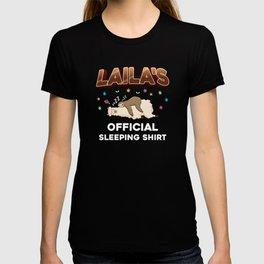 Laila Name Gift Sleeping Shirt Sleep Napping T-shirt