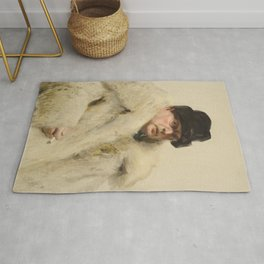 Anders Zorn - Self-Portrait in a Wolfskin Rug
