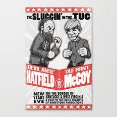Hatfield McCoy Boxing Poster Vintage Look RonkyTonk Canvas Print