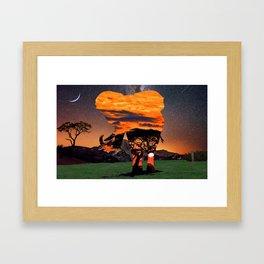 Elephant Skies Framed Art Print