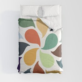 Colorful Water Drops Comforters