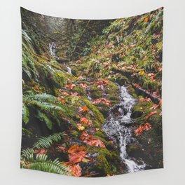 PNW Fall Waterfall Wall Tapestry