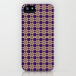 PUPRLE RETRO PATTERN  iPhone Case