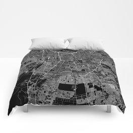 Santiago Black Map Comforters