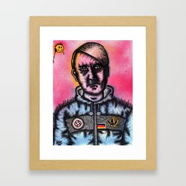 HITLER THE FOOTBALL HOOLIGAN CASUAL  Framed Art Print