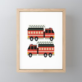 I´m This Many Fire Trucks Old For Boys 2 Years Old Framed Mini Art Print