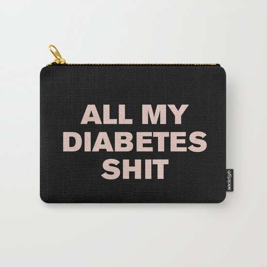 All My Diabetes Shit™ (Pink on Black) by casualtygirl