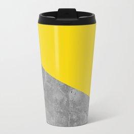 Geometry 101 Vivid Yellow Travel Mug