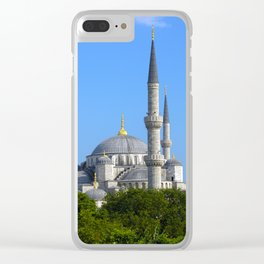 Blue Mosque, view from Sultanahmet, Istanbul, Turkey Clear iPhone Case