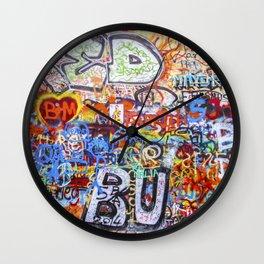 Prague's Wall Wall Clock