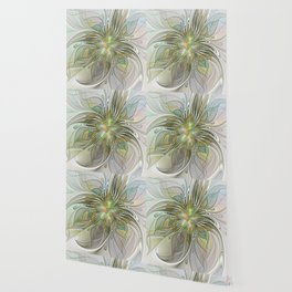 Floral Fantasy, Abstract Fractal Art Wallpaper