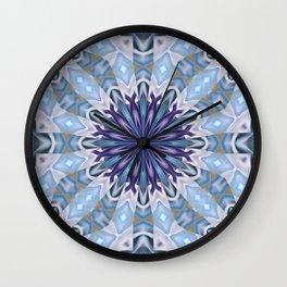 Winter abstract pattern Wall Clock
