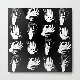 witch hands pattern Metal Print