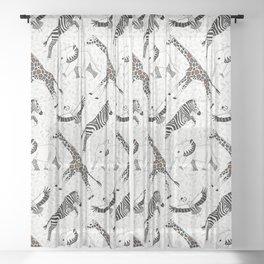 wild and free safari Sheer Curtain