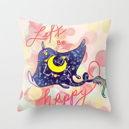 Lets be stingy happy Throw Pillow