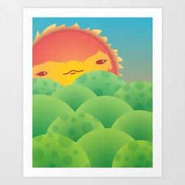 Sunlit Hills Art Print