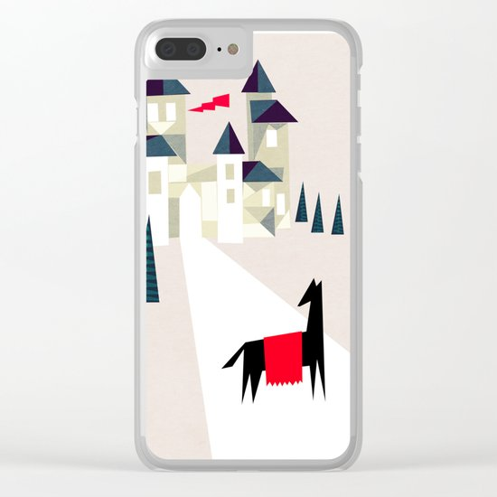 The horse and his castle Clear iPhone Case