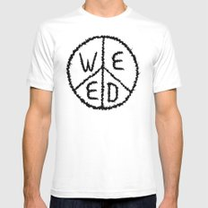 WEED-7 MEDIUM Mens Fitted Tee White