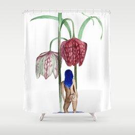 Waiting at Fritillary Shower Curtain