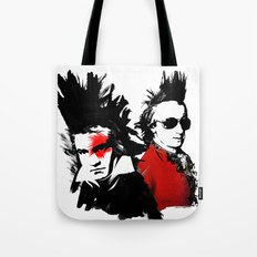 Beethoven Mozart Punk Composers Tote Bag