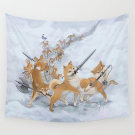 Cry Heckin' and Let Slip the Doges of War Wall Tapestry