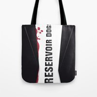 reservoir dogs Tote Bags featuring Reservoir Dogs Tribute Poster by stefano manca