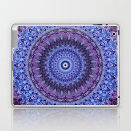 Mandala in violet and blue tones Laptop & iPad Skin