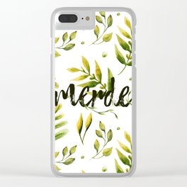 Merde Clear iPhone Case