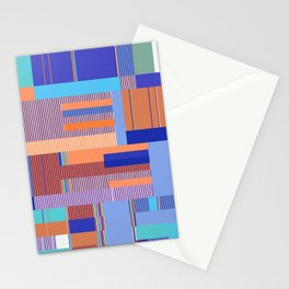 Scandinavian Moon (Blue Salmon Colours) Stationery Cards