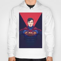 superman Hoodies featuring Superman by Muito
