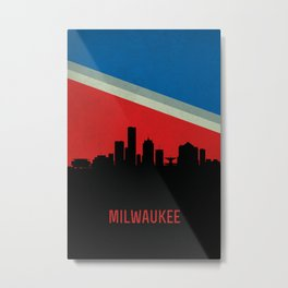 Milwaukee Skyline Metal Print