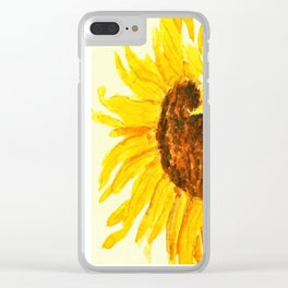 sunflower macro Clear iPhone Case