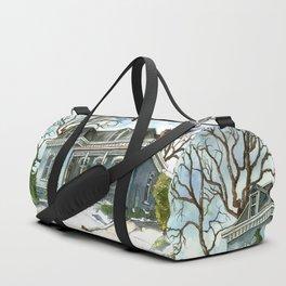 A Cozy Winter Cottage Duffle Bag
