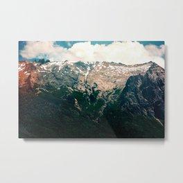 Mountain Texture Metal Print
