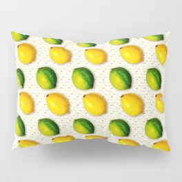 Vintage Lemon and Lime Pattern Pillow Sham