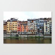 Florence: Arno River Canvas Print