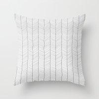 herringbone Throw Pillows featuring Herringbone by EtOfficina