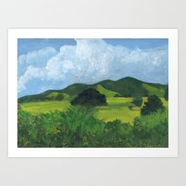 A Cloudy Day Art Print