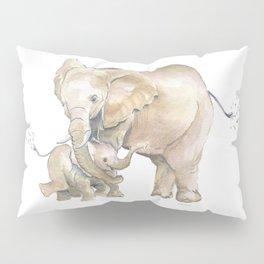 Mother's Love - Elephant Family Pillow Sham