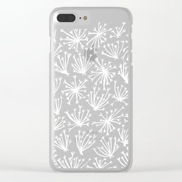 Queen Anne's Lace – White on Navy Clear iPhone Case