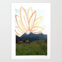 switzerland Art Prints featuring switzerland by Anna Bergland