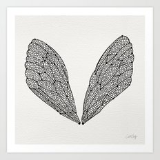 Black Cicada Wings Art Print