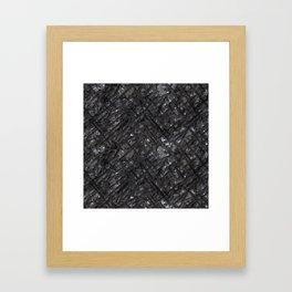 Scarred Iron Wall Framed Art Print