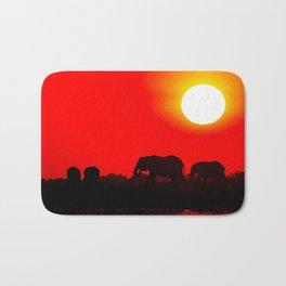 Elephant evening - Africa wildlife Bath Mat