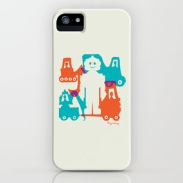 Friendlier Robots iPhone Case