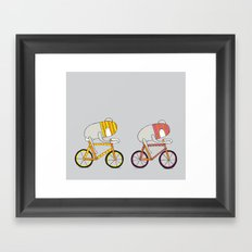 Ride more bikes Framed Art Print